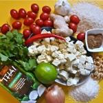 Coconut Curry Tofu with Cilantro Rice