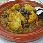 Cooking Chicken, Olive and Preserved Lemon Tagine in Marrakech